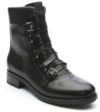 Tahari Jude Leather Combat Boot