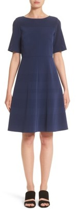 Women's Lafayette 148 New York Tamera Perforated Fit & Flare Dress $648 thestylecure.com