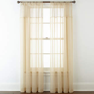 Liz Claiborne Lisette Macram Sheer Tab-Top Curtain Panel
