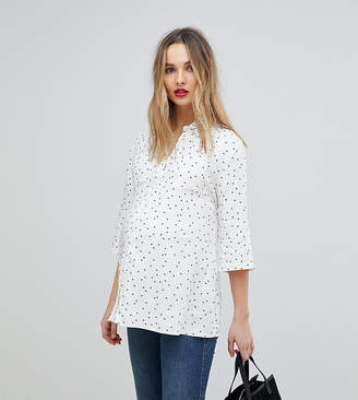 Isabella Oliver Pocket Shirt In All Over Star Print