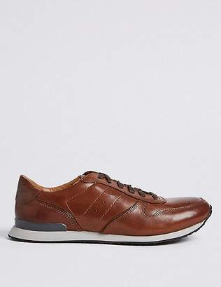 Marks and Spencer Leather Lace-up Casual Trainers