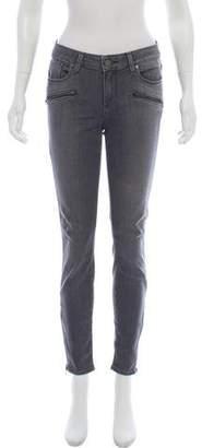 Paige Denim Mid-Rise Skinny Jeans