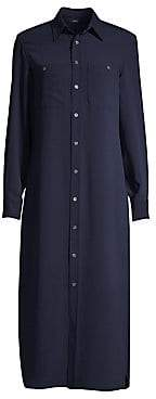 Polo Ralph Lauren Women's Modern Drape Long-Sleeve Shirtdress - Size 0
