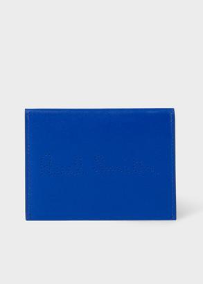 Paul Smith Men's Cobalt Blue Leather Receipt Holder