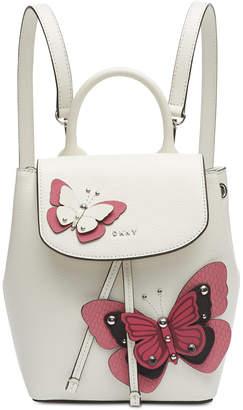 DKNY Lex Leather Butterfly Garden Backpack