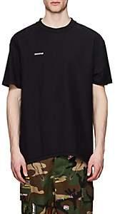 Vetements Men's Logo Cotton Oversized Inside-Out T-Shirt-Black