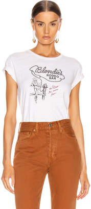 RE/DONE Classic Tee Blondies Rodeo in Vintage White | FWRD