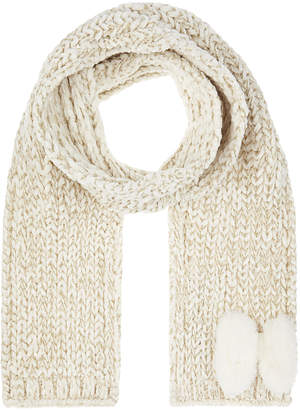 Monsoon Katie Chenille Fluffy Bow Scarf