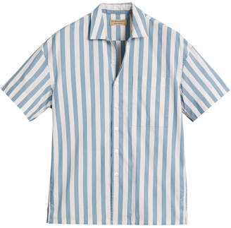 Burberry Short-sleeved Striped Cotton Shirt