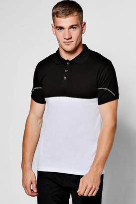 boohoo Chain Stitch Polo Shirt