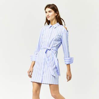 Warehouse Button Sleeve Shirt Dress