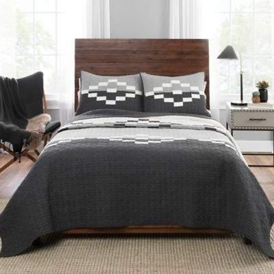 Pendelton Borah Peak Twin Quilt Set in Black/Grey
