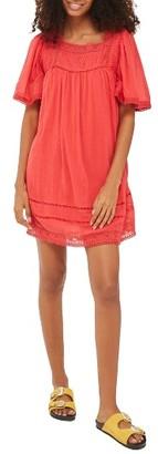 Women's Topshop Lace Trim Trapeze Dress $68 thestylecure.com