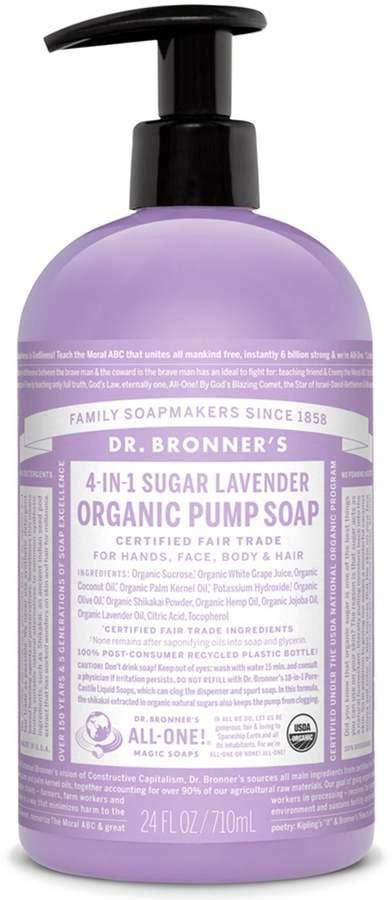 Dr. Bronner's Sugar Lavender Organic Pump Soap by 24oz Liquid Soap)