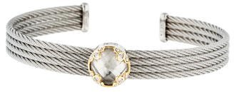 Charriol Charriol White Topaz & Diamond 4-Row Cable Cuff