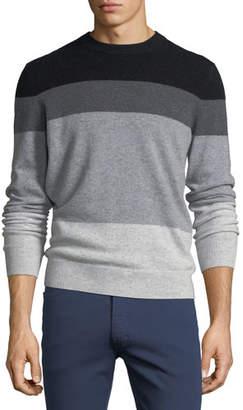 Neiman Marcus Fading Cashmere Crewneck Sweater