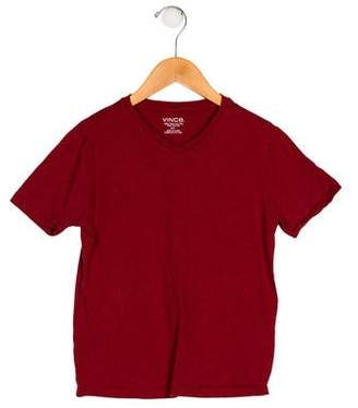Vince Boys' V-Neck Short Sleeve Shirt