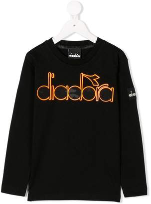 Diadora (ディアドラ) - Diadora Junior ロゴプリント ロングTシャツ