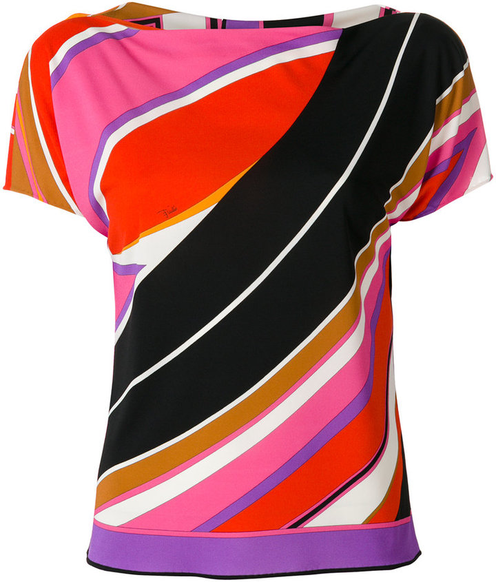 Emilio Pucci printed stripe blouse