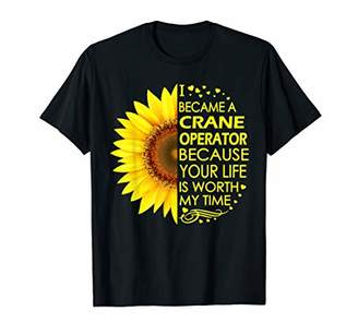 I Became Crane Operator Sunflower T-Shirt