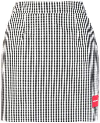 CK Calvin Klein gingham mini skirt