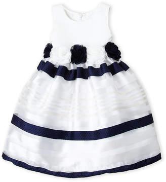 American Princess (Toddler Girls) Striped Floral Tank Dress