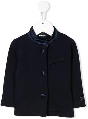 Diesel contrast collar knit cardigan