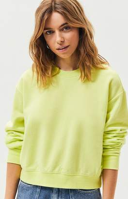 La Hearts Neon Ribbed Paneled Sweatshirt