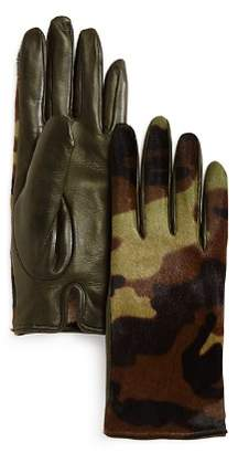 Bloomingdale's Camo Cashmere & Calf Hair Gloves - 100% Exclusive