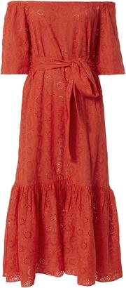 Rhode Resort Jay Eyelet Off-The-Shoulder Maxi Dress $375 thestylecure.com