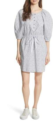 Rebecca Taylor LONG SLEEVE MEADOW FLORAL DRES