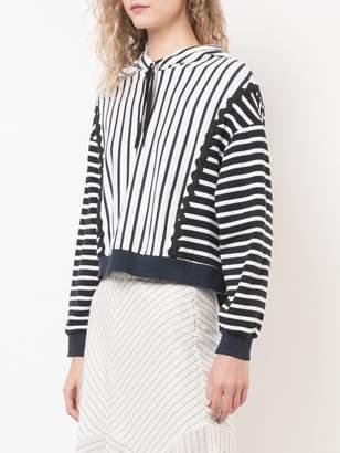 Jonathan Simkhai oversized striped hoodie