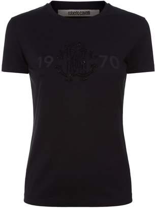 Roberto Cavalli Sequinned Logo T-Shirt