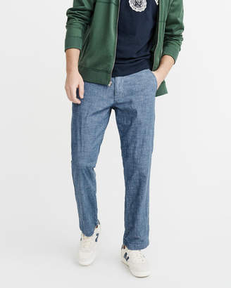 Abercrombie & Fitch Straight Chambray Pants