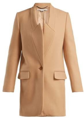 Stella McCartney Casandra Single Breasted Coat - Womens - Camel