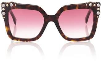 Fendi Embellished square sunglasses