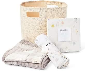 petit pehr Magical Forest Blanket, Crib Sheet, Swaddle & Bin Set
