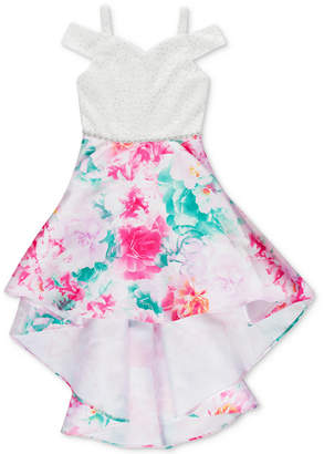 2e659589ce2 Speechless Big Girls Floral-Print Cold Shoulder Dress