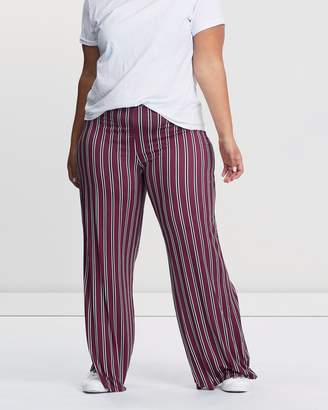 Missguided CURVE Stripe Wide-Leg Trousers