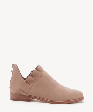 Sole Society Women's Brinya Ruffle Bootie Bare Nude Size 5 Leather From