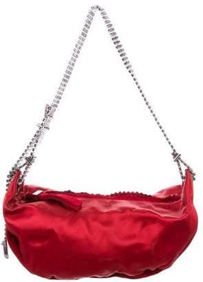 Jimmy Choo Embellished Satin Shoulder Bag