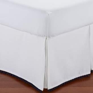 Pottery Barn Teen Pom Pom Bed Skirt, Royal Navy, Queen