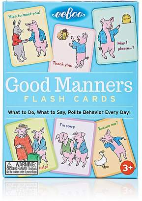 Eeboo Good Manners Flash Cards $12 thestylecure.com