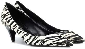 Saint Laurent Calf hair zebra-printed pumps