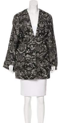 Stella McCartney Patterned Bell Sleeve Cardigan Black Patterned Bell Sleeve Cardigan
