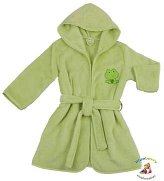 Blueberryshop BlueberryShop Embroidered Luxurious Hooded Bathrobe/Dressing Gown 6-7 Years
