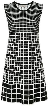 D-Exterior D.Exterior checked sleeveless dress