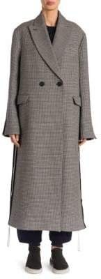 Stella McCartney Oversized Houndstooth Wool-Silk Coat