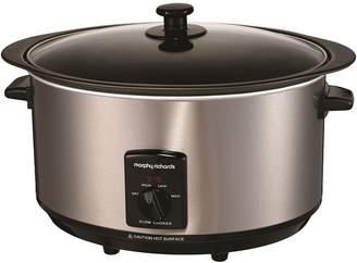 Morphy Richards Sear & Stew Slow Cooker, 6.5L, Steel