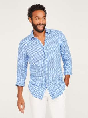 Gramercy Classic Fit Linen Shirt in Gingham